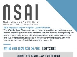 Jersey Shore Chapter Nashville Songwriters Assoc