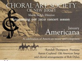Choral Art Society of NJ is calling choral singers to our 2019-2020 season!