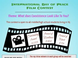 Peace Film Contest for Middle/High School Students Living in NJ