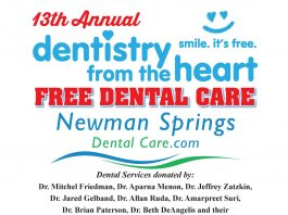 Free dental care at Lincroft practice on Thursday, October 17th!  Dentistry From The Heart, Newman Springs Dental Care's 13th Annual  Free Day of Dentistry