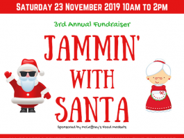 3rd Annual Fundraiser Jammin' with Santa