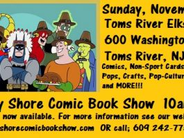 Jersey Shore Fall Holiday Comic Book Show