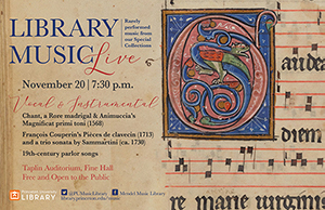 Library Music Live: Rarely performed music from our Special Collections