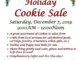 Annual Holiday Cookie Sale, Holiday Gift Sale and Coat Drive!