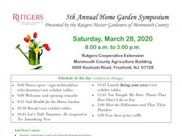 5th Annual Home Garden Symposium  Presented by the Rutgers Master Gardeners of Monmouth County