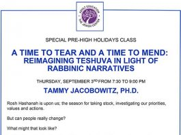 A Time to Tear and a Time to Mend: Reimagining Teshuva in Light of Rabbinic Narratives