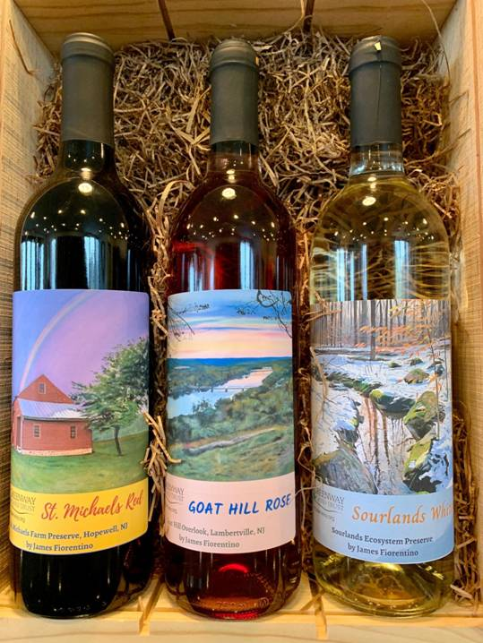 Watercolor Labels On Wine Bottles Celebrate Benefit D R Greenway Preserves Centraljersey Com
