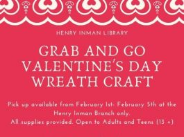 Henry Inman-Teen/Adult Grab and Go Valentine's Day Wreath Craft