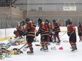 PHOTO COURTESY OF HILLSBOROUGH HIGH SCHOOL ICE HOCKEY TEAM