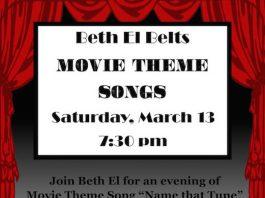 Beth El Synagogue Presents 'Beth El Belts Movie Theme Songs'