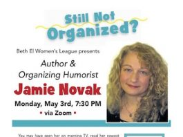 "Beth El Synagogue Presents ""Still Not Organized?"""