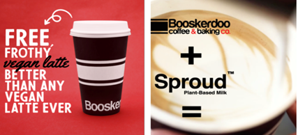 Free Vegan Lattes at Five Booskerdoo Coffee and Baking CO. New Jersey Locations