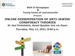"Beth El Synagogue Presents ""Online Dissemination of Anti-Jewish Conspiracy Theories"""
