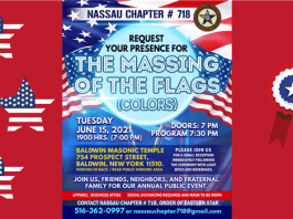Nassau Chapter's Massing of the Flag
