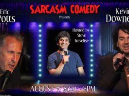 Comedians Kevin Downey Jr, Eric Potts, and Steve Trevelise
